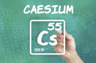 Symbol for the chemical element caesium