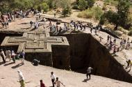 The Church of St. George in Lalibela, Ethiopia.