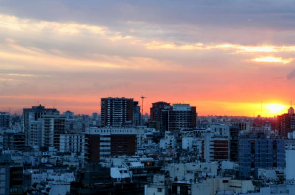 Sunset in Buenos Aires, Argentina.