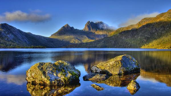 Landscape of a sunset, Midway Point, Tasmania