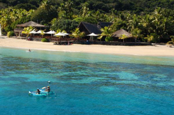 A view of Castaway Island in Fiji.