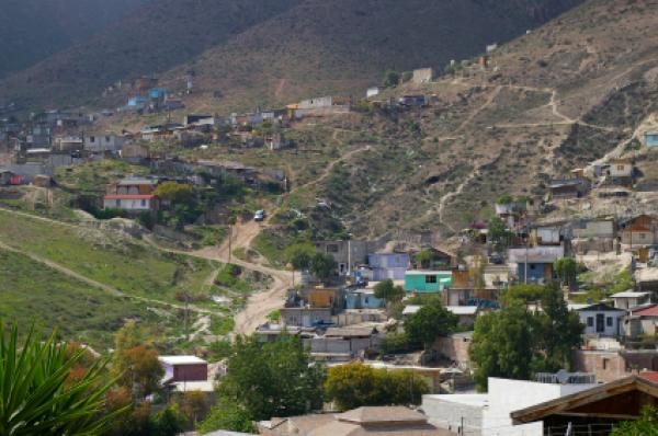 View of a neighborhood in Tijuana