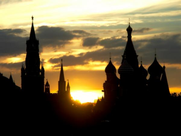 Silhouette of the Moscow Kremlin