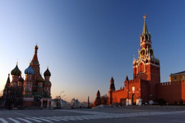 St. Basil's &amp; The Kremlin at Moscow at Night from Red Square