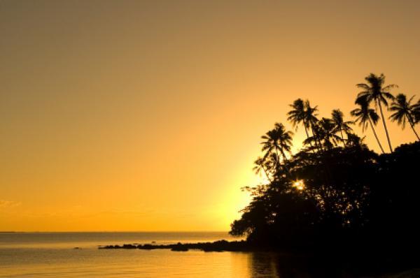 Sunset in Samoa
