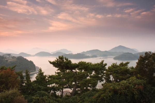 Dala Park pre-sunrise view, South Korea