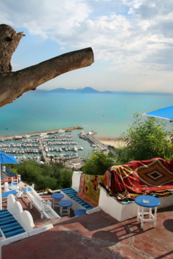 Colorful view of Tunisian Harbor
