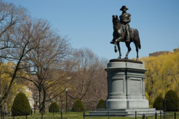 George Washington statue in the Boston Public Garden