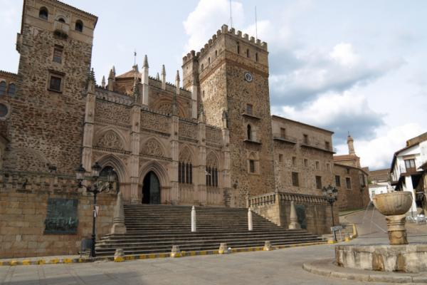 The Royal Monastery of Santa Maria de Guadalupe (Real Monasterio de Nuestra Señora de Guadalupe) at Guadalupe in Extremadura, Spain
