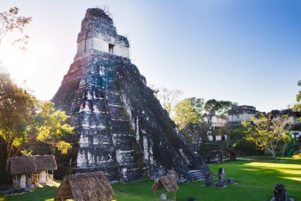 Mayan Temple Ruins in Tikal Guatemala