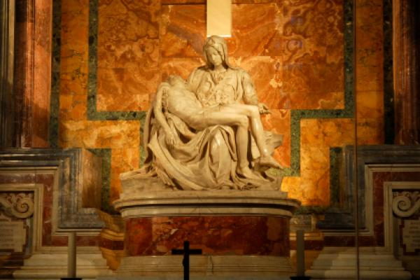 La Piet&#224; by Michelangelo