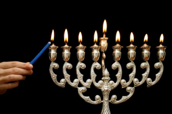 Candles are lit during Hanukkah. Candles are lit during Hanukkah ...