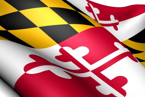 Close up of the flag of Maryland
