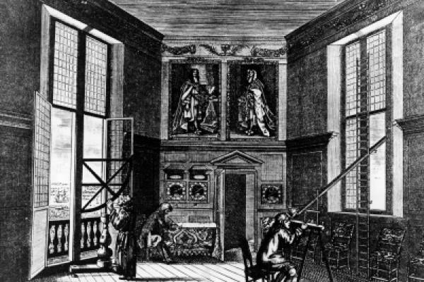 Observers at the Royal Observatory (built 1675)