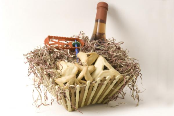 Traditional purim basket