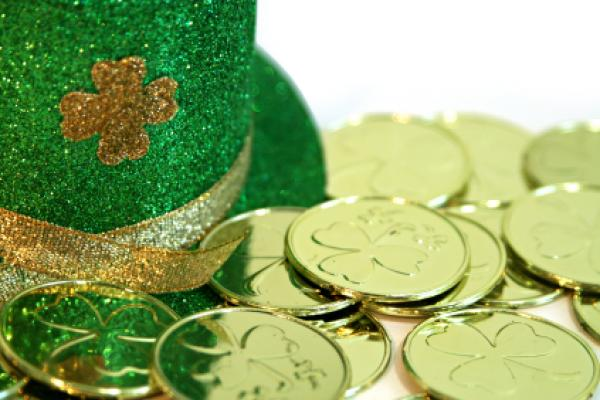 St. Patrick&#39;s Day Hat and Lucky Coins