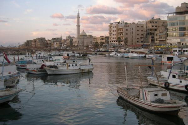 Small Syrian harbour in Tartus