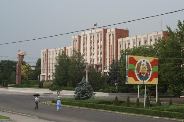Presidential building in Tiraspol, Transnistria