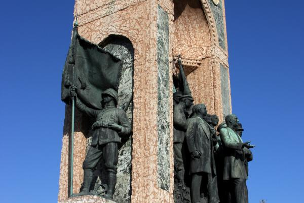 Independence monument in Taksim, Turkey