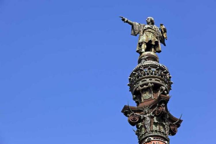 Columbus (IN) United States  city pictures gallery : Statue of Christopher Columbus The Christopher Columbus monument in ...