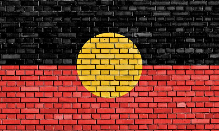The Aboriginal flag is one of the symbols of National Sorry Day in Australia.