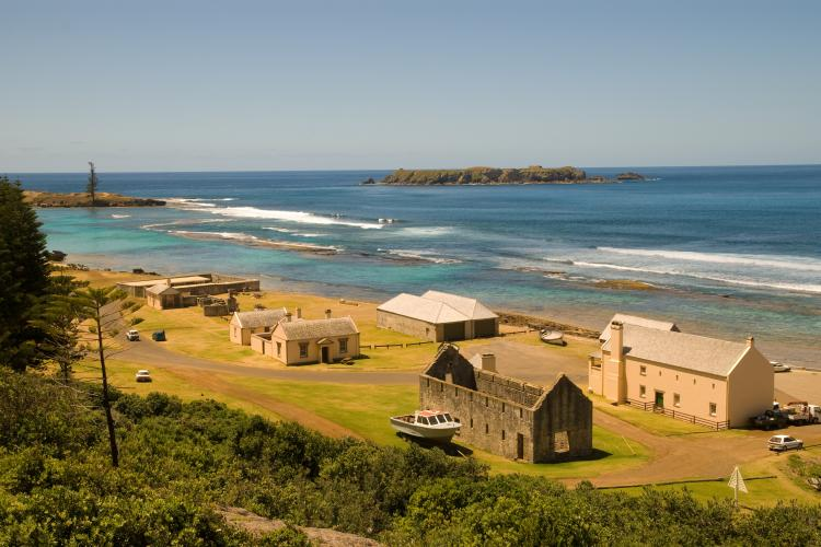 Old penal settlement in Kingston, Norfolk Island, Australia.