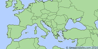 Location of Pristina
