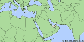 Location of Sharjah