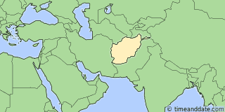 Location of Kabul