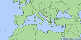 Location of Durrës