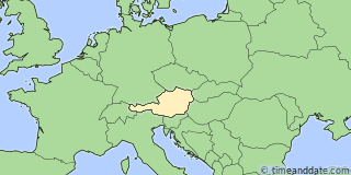 Location of Salzburg