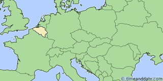 Location of Bruges