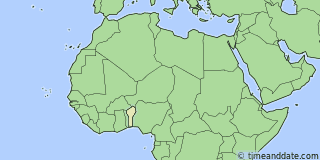 Location of Cotonou