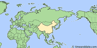 Location of Shanghai