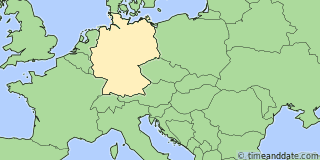 Location of Mühlhausen/Thüringen