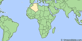 Location of Tamanrasset
