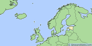 Location of Tallinn