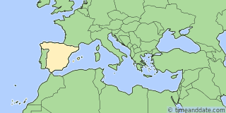 Location of Zaragoza