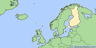 Location of Helsinki