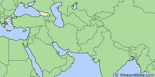 Location of Tbilisi