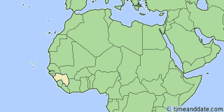 Location of Conakry