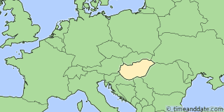 Location of Budapest