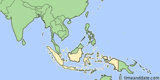 Location of Padang
