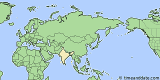 Location of Dharamshala
