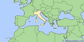Location of Milan