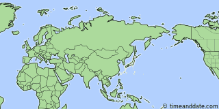 Location of Nagasaki