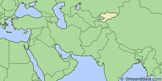 Location of Bishkek