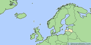 Location of Liepāja