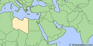 Location of Benghazi