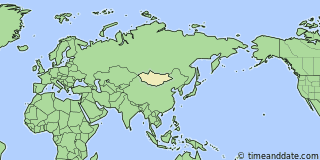 Location of Ulaanbaatar
